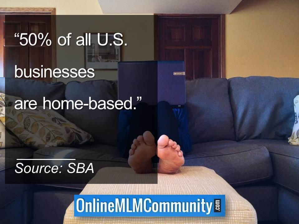 50% of all U.S. businesses are home-based