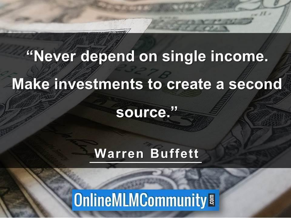 Never depend on single income