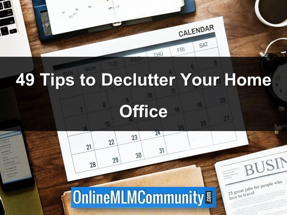 49 Tips to Declutter Your Home Office