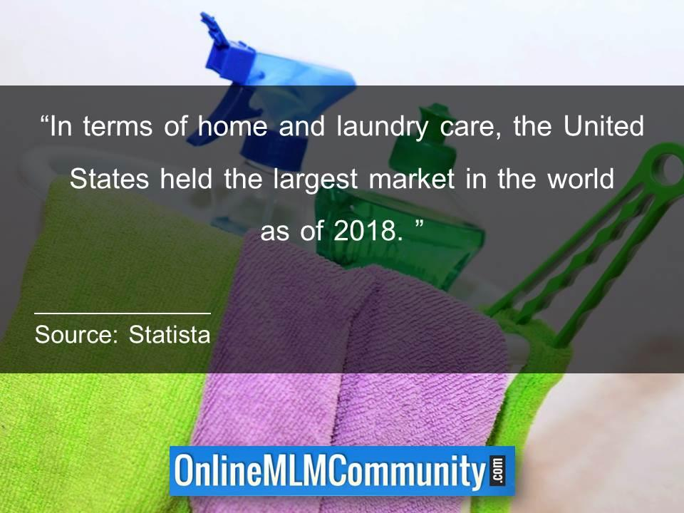 United States held the largest market in 2018 home and laundry care