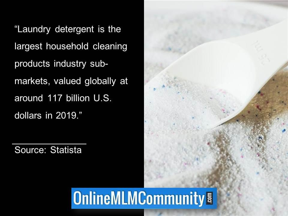 Laundry detergent is the largest household cleaning products industry sub-markets