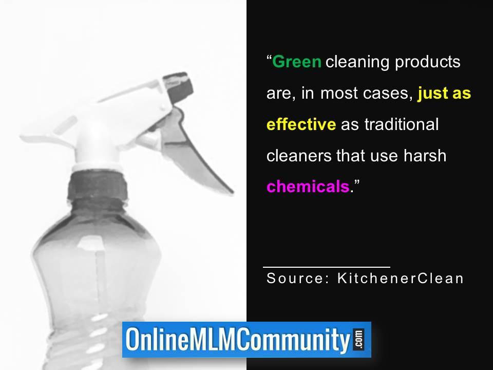 Green cleaning products are just as effective traditional cleaners