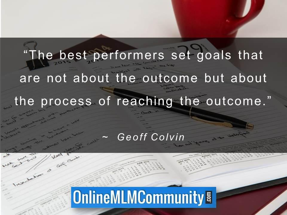 The best performers set goals