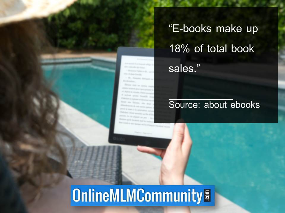 Ebooks make up 18% of total book sales