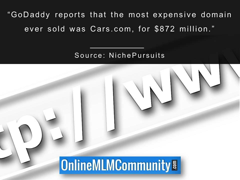 GoDaddy reports that the most expensive domain ever sold