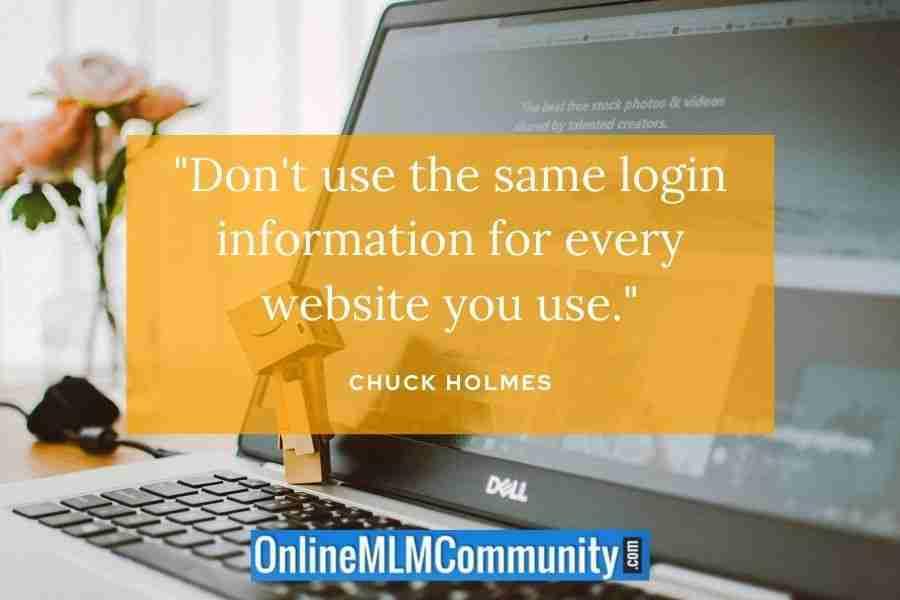 change your login