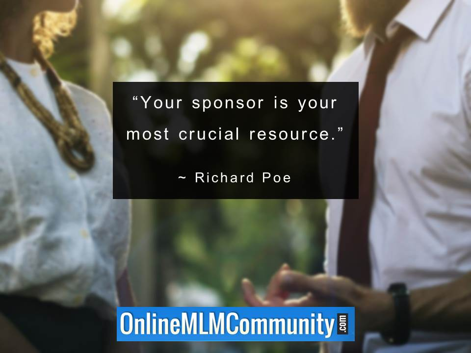Your sponsor is your most crucial resource