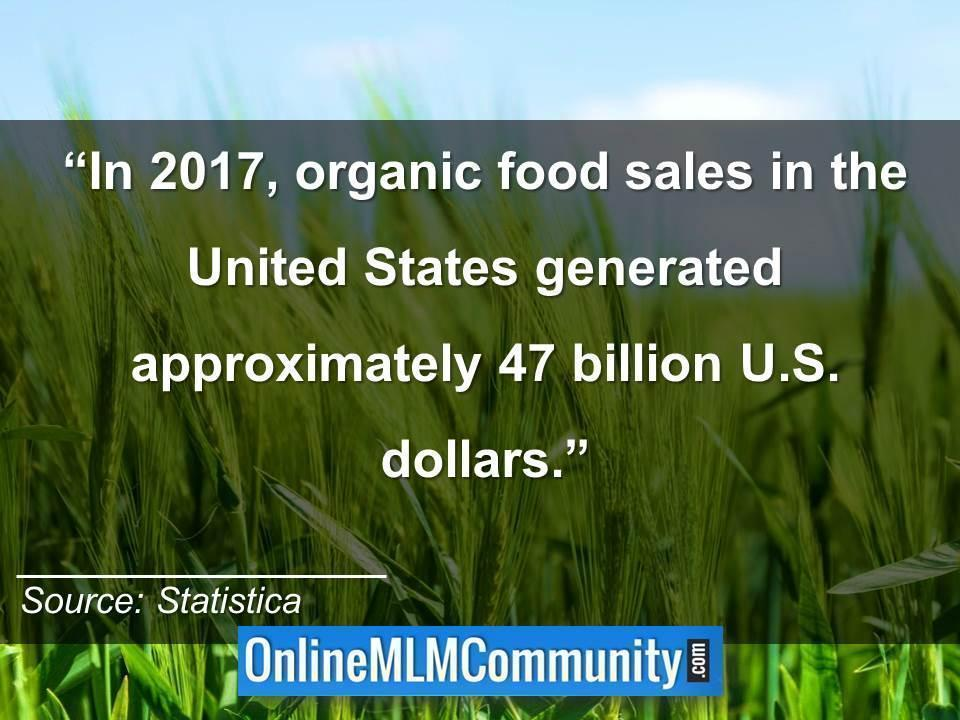 2017 organic product sales