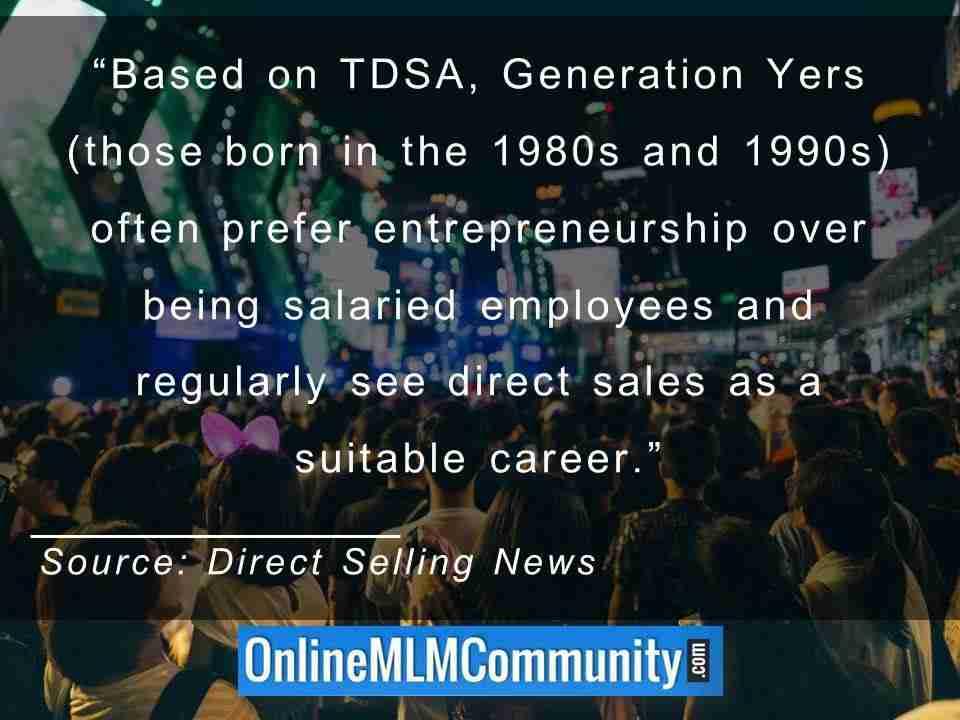Generation Yers often prefer entrepreneurship over being salaried employees
