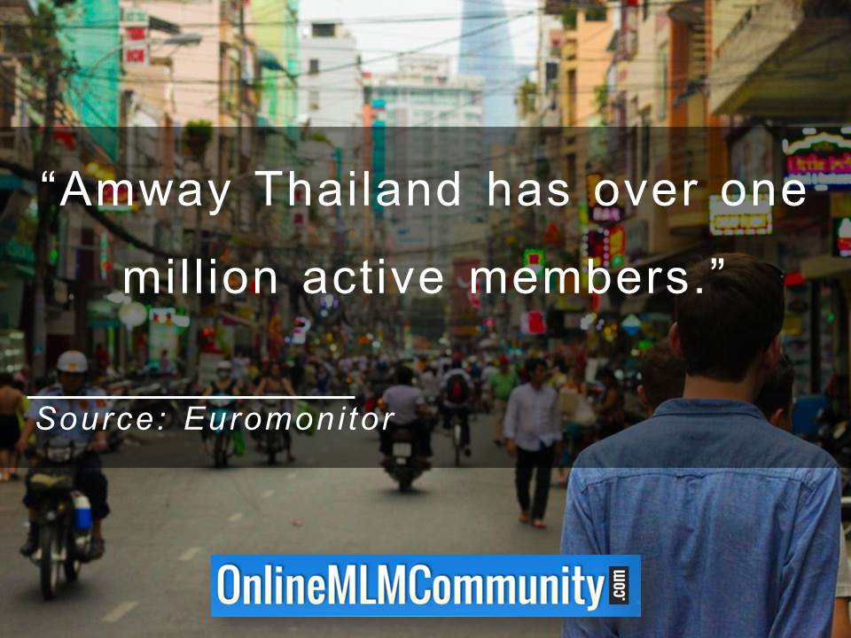 Amway Thailand has over one million active members