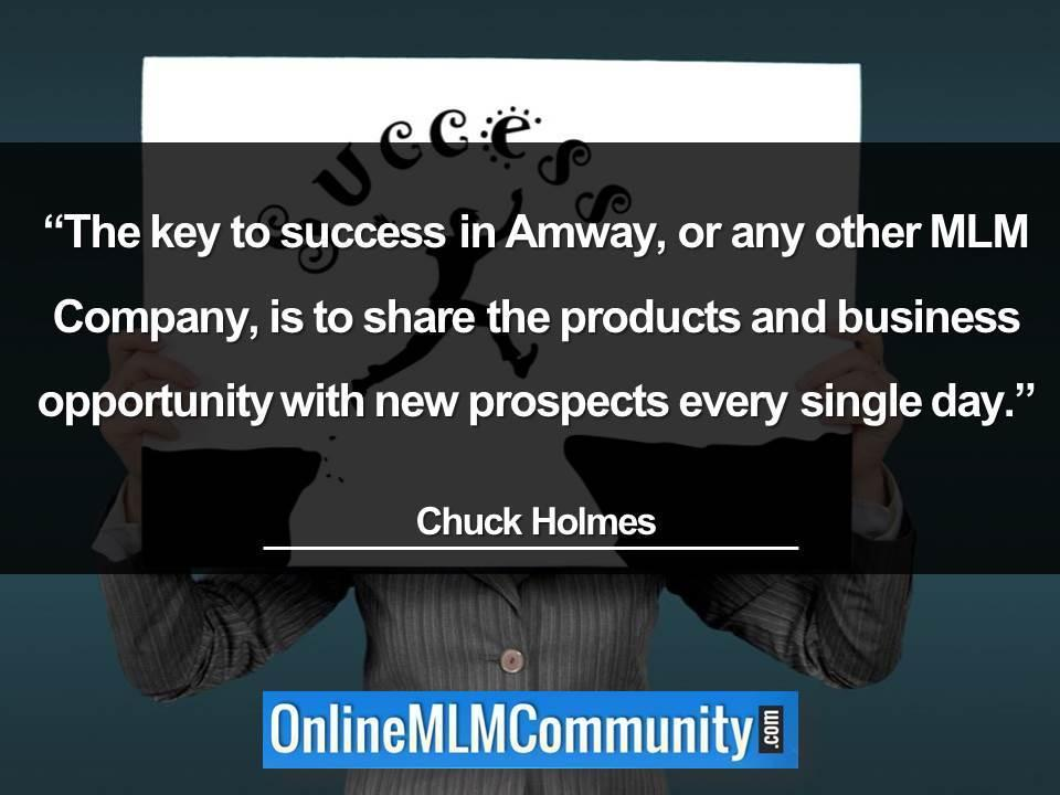 The key to success in Amway