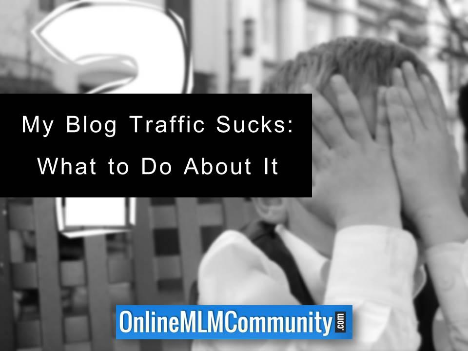 My Blog Traffic Sucks What to Do About It