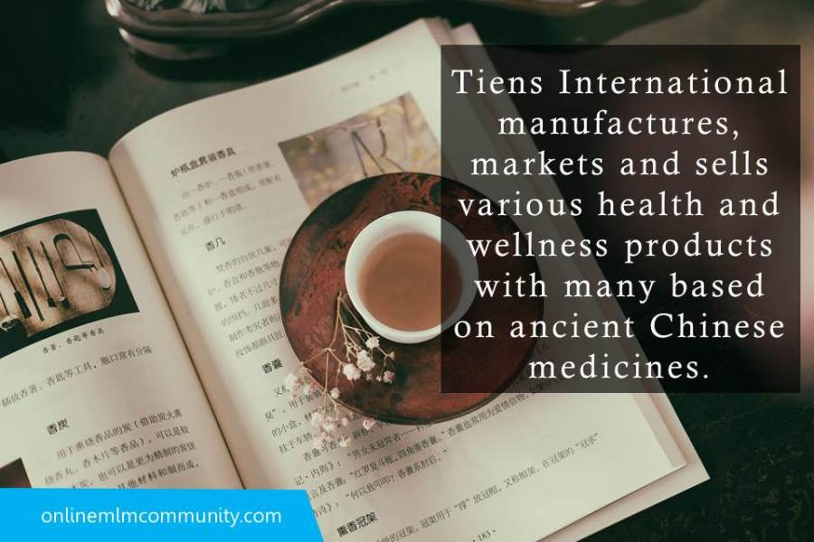 Tiens International manufactures products based on ancient Chinese medicines