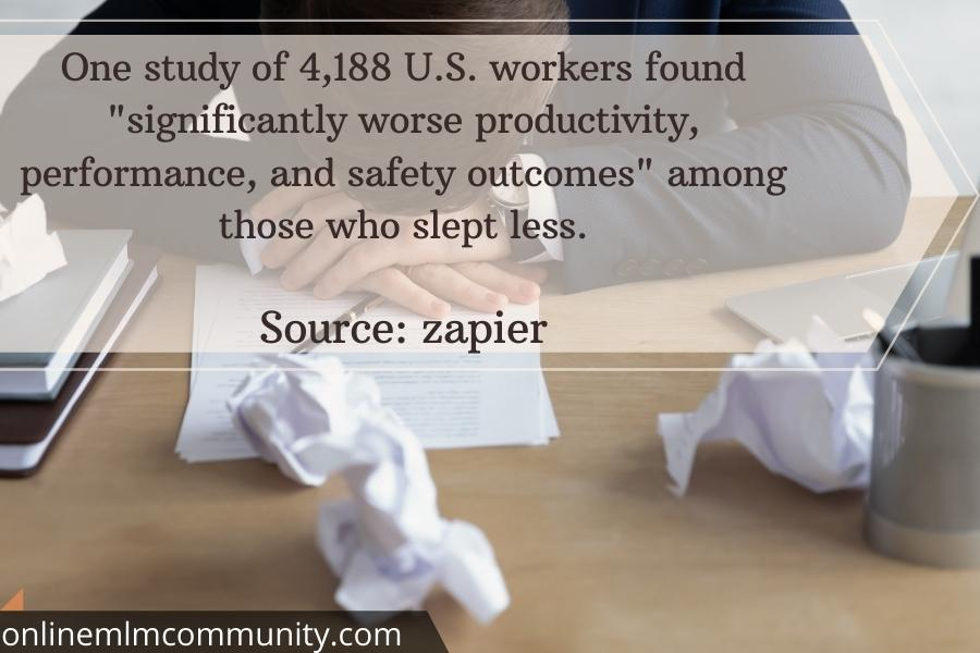 workplace accidents for lack of sleep