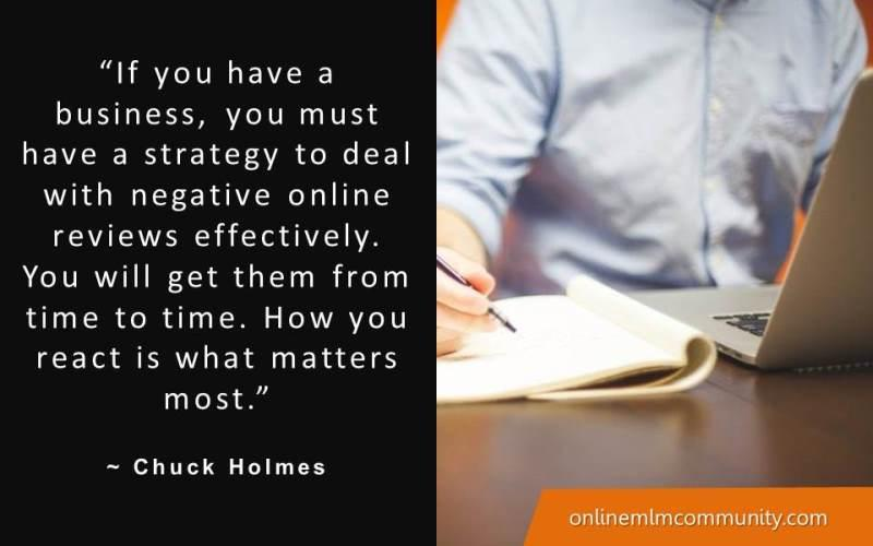 strategy for dealing with negative online reviews