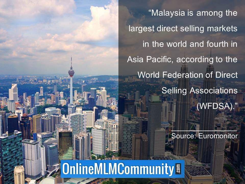Malaysia is among the largest direct selling markets in the world
