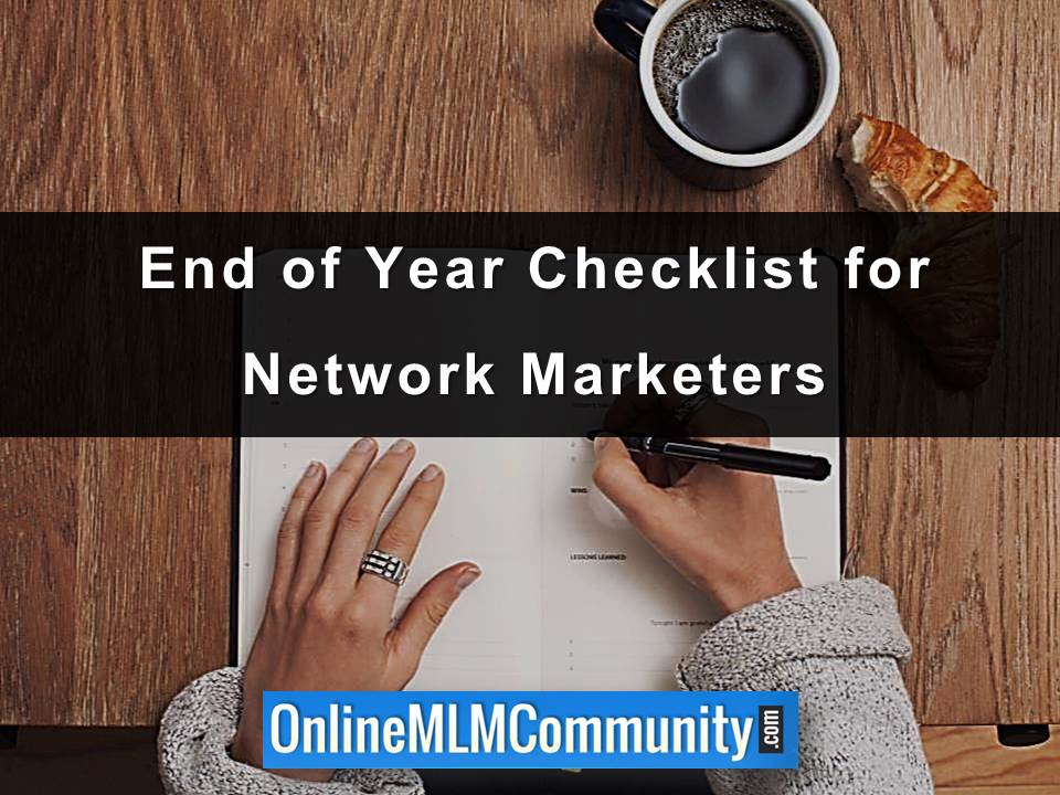 End of Year Checklist for Network Marketers