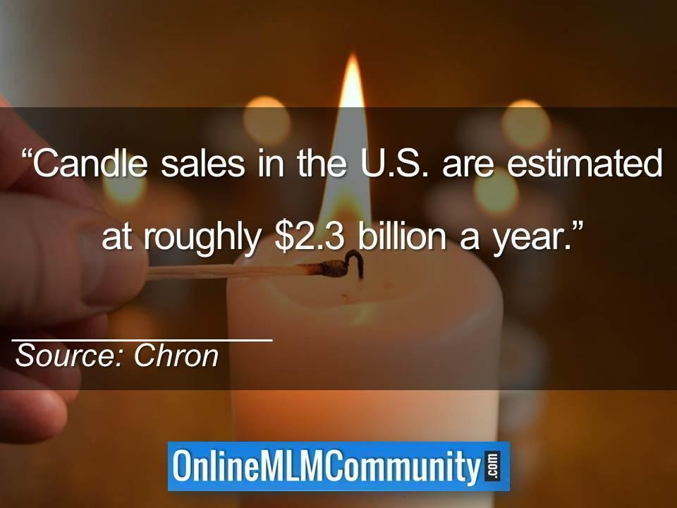 Candle sales in the U.S. are estimated at roughly 2.3 billion