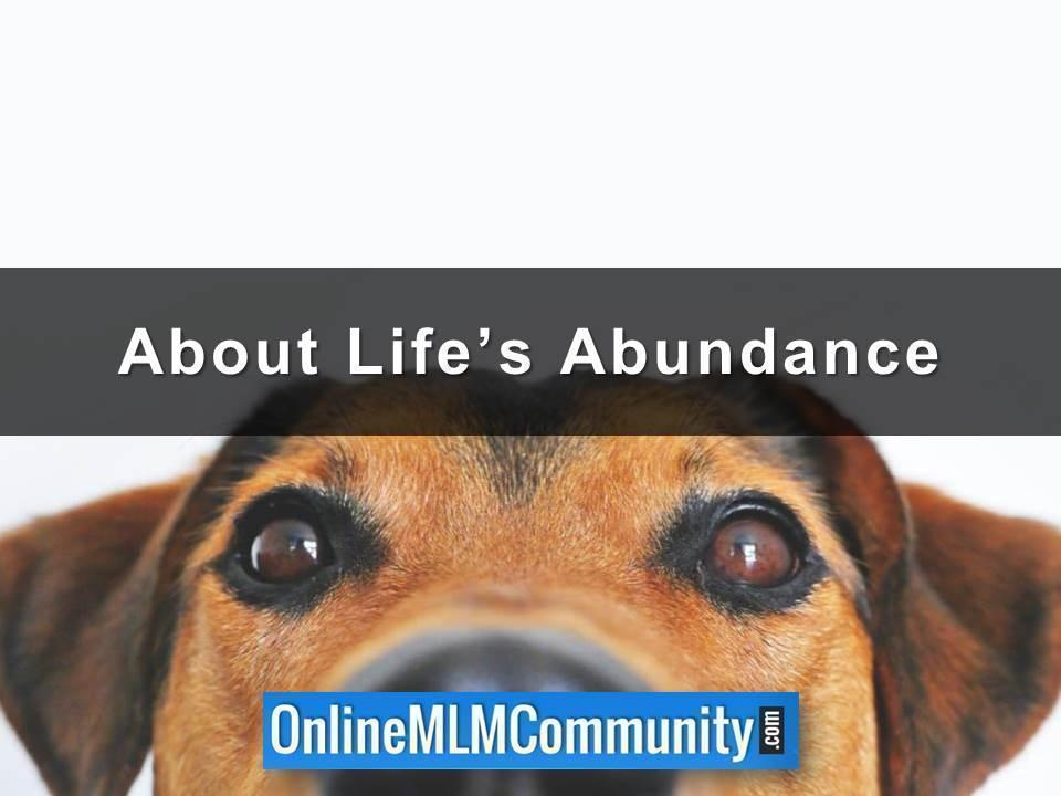 About Life's Abundance