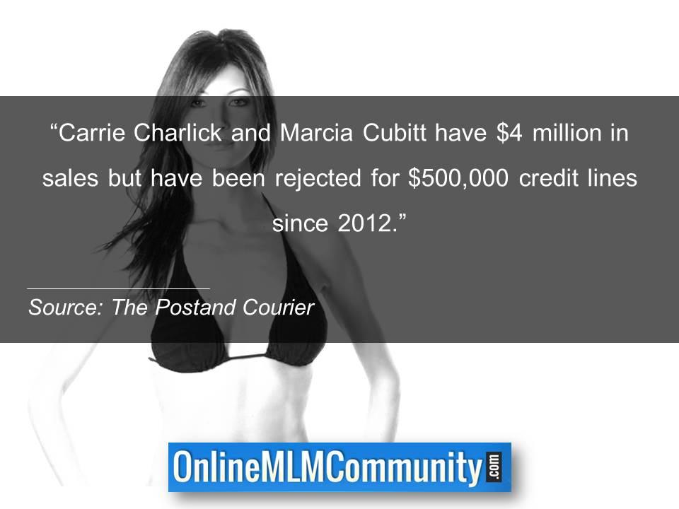 Carrie Charlick and Marcia Cubitt have 4M in sales