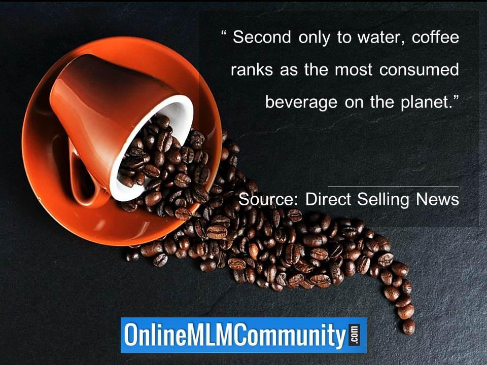 Coffee ranks as the most consumed beverage on the planet