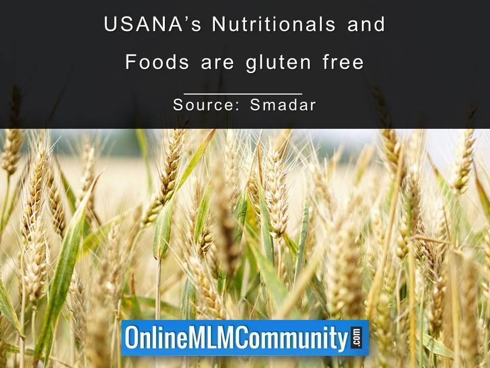USANAs Nutritionals and Foods are gluten free