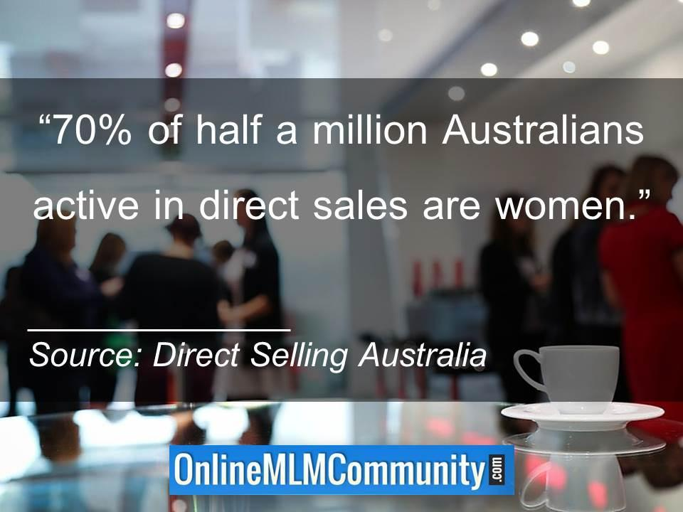 70percent of half a million Australians active in direct sales are women