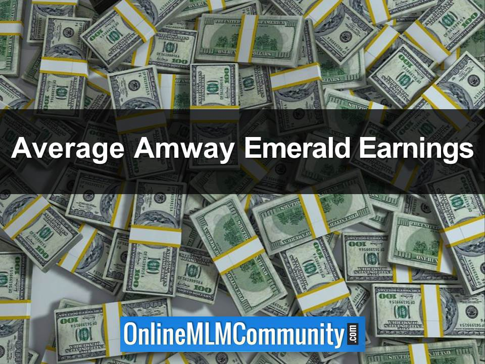 Average Amway Emerald Earnings