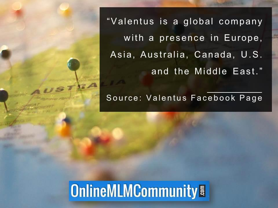 Valentus is a global company
