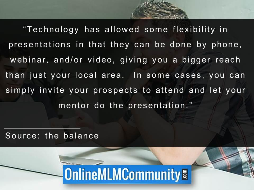 Technology has allowed some flexibility in presentations
