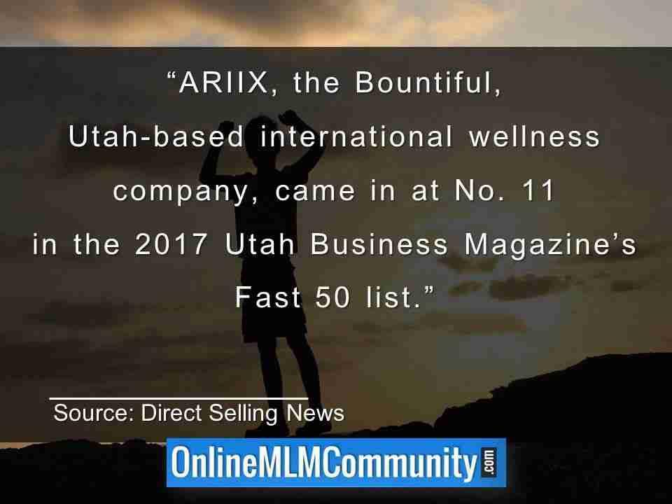 ARIIX the Bountiful Utah-based international wellness company