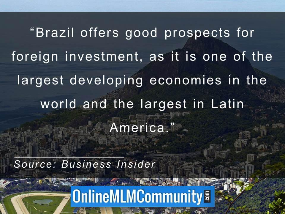 Brazil offers good prospects for foreign investment