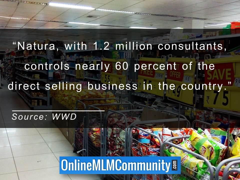 Natura controls nearly 60 percent of the direct selling business in the country