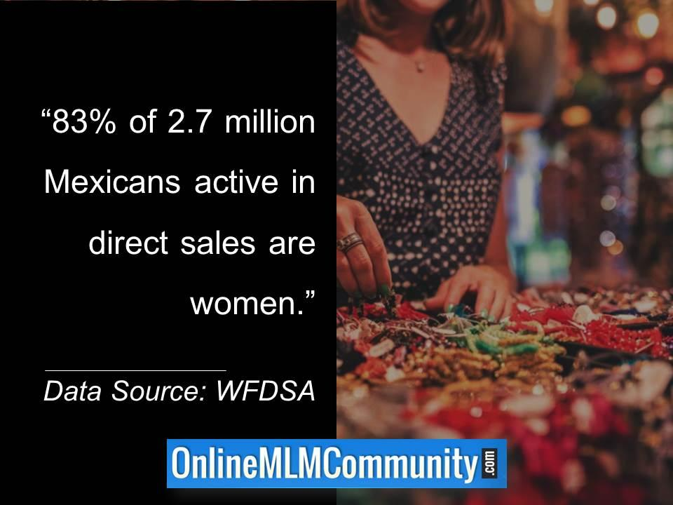83 percent of 2.7 million Mexicans active in direct sales are women