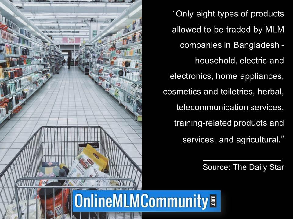 Only eight types of products allowed to be traded by MLM companies in Bangladesh