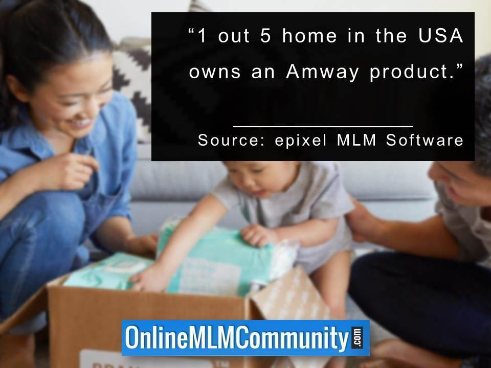 1 out 5 home in the USA owns an Amway product