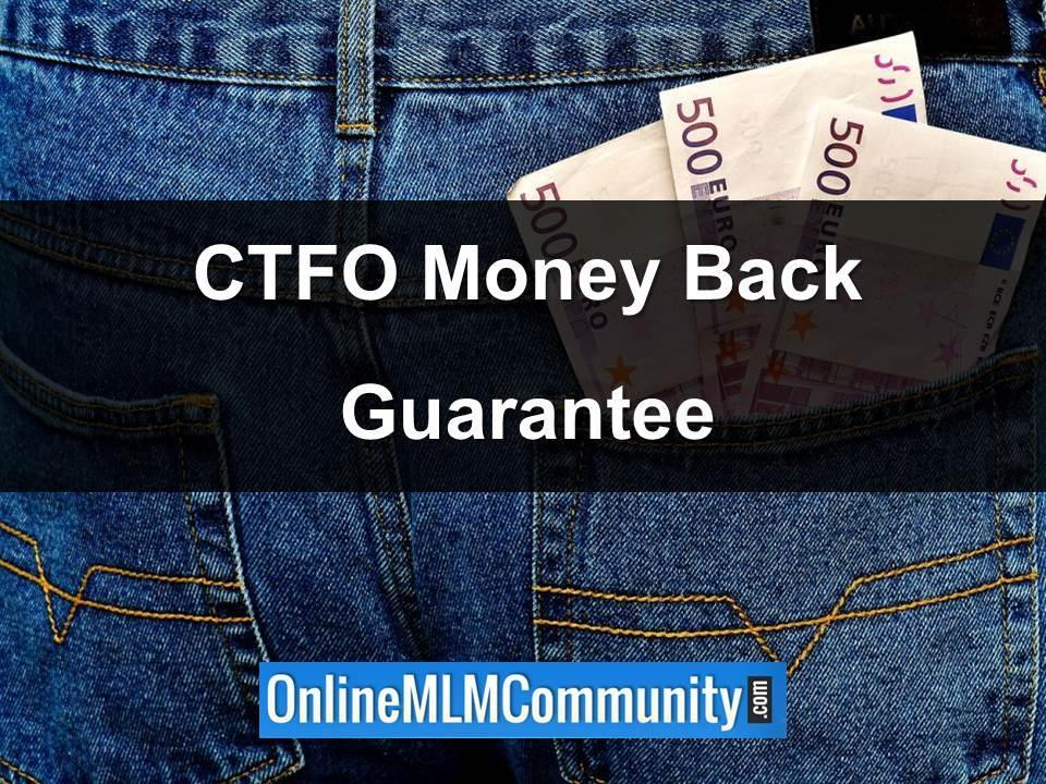 ctfo money back guarantee
