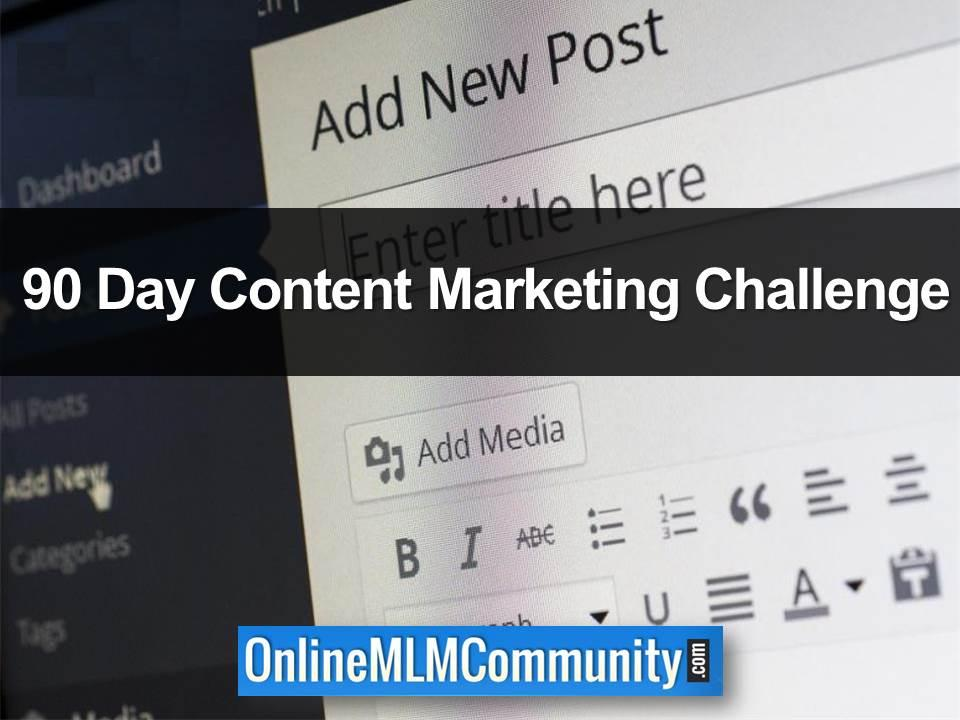 90 Day Content Marketing Challenge