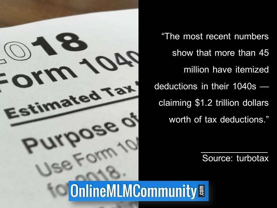 More than 45 million 1040s have itemized tax deductions