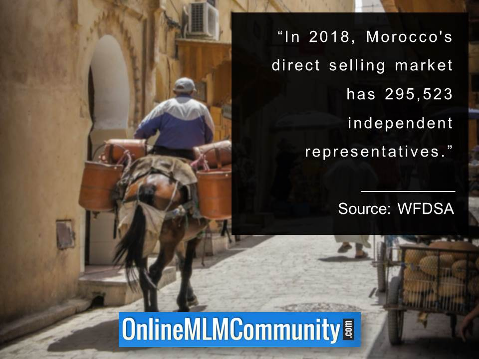Moroccos direct selling market has 295523 independent representatives