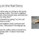 Dog Sitting on a Nail Story