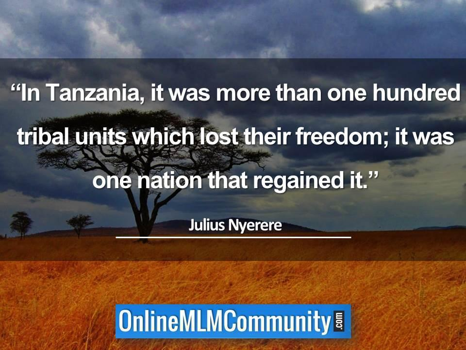 In Tanzania, it was more than one hundred tribal units