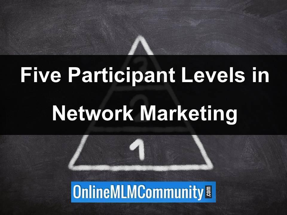 Five Participantion Levels in Network Marketing