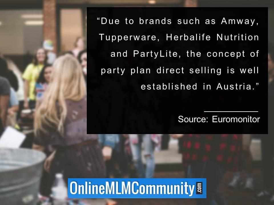 party plan direct selling is well established in Austria