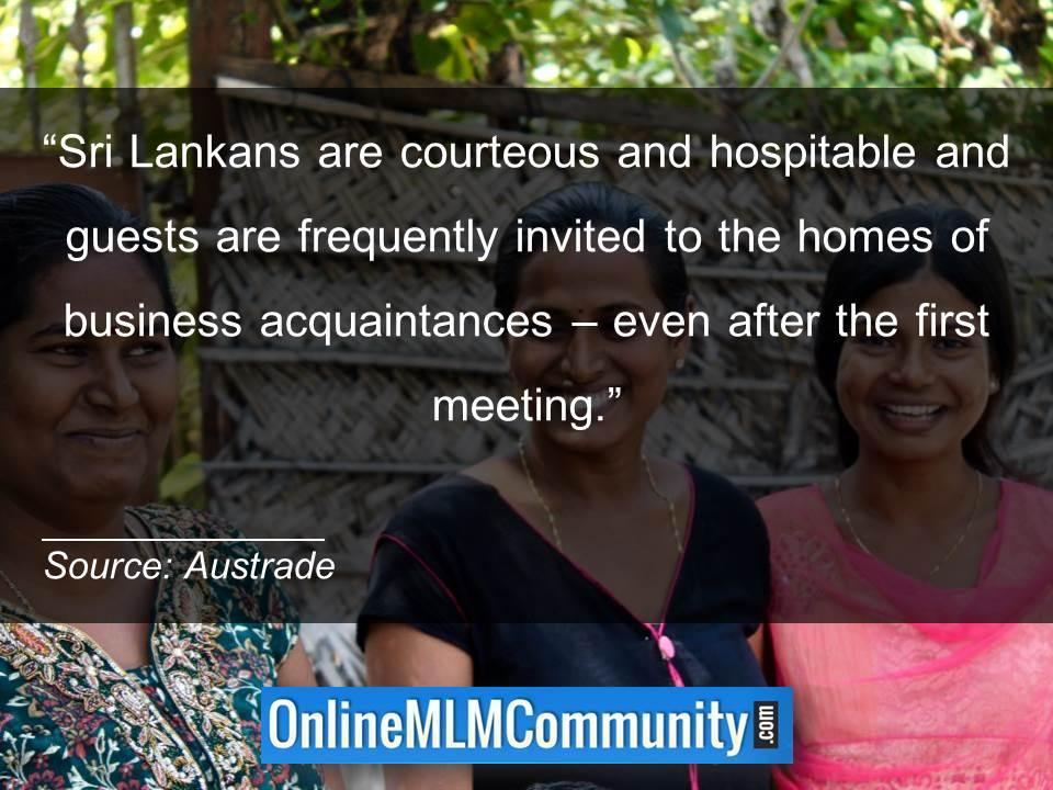 Sri Lankans are courteous and hospitable