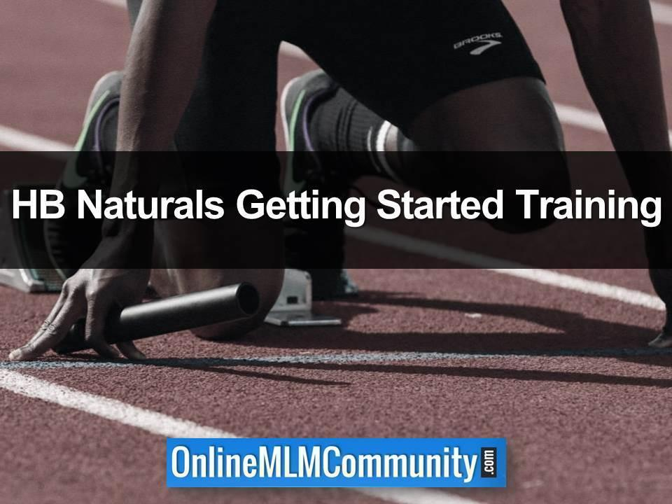 HB Naturals Getting Started Training