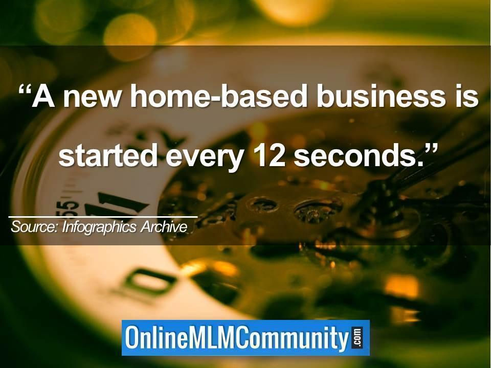 A new home-based business is started every 12 seconds