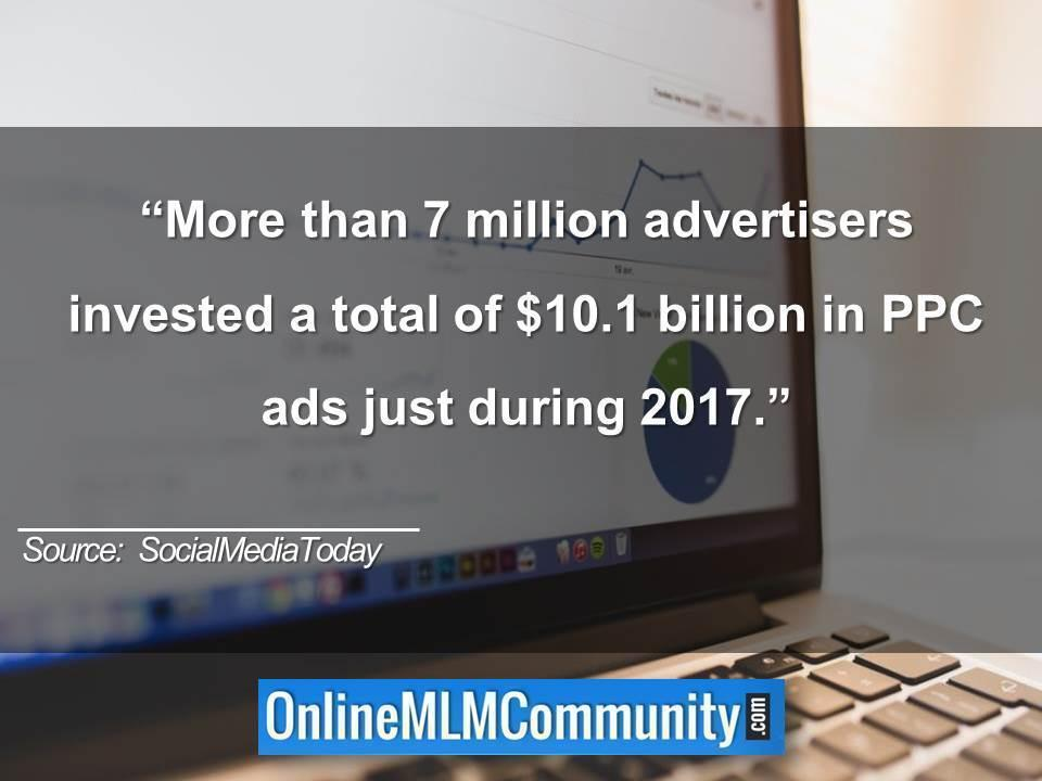 7 million advertisers invested in PPC ads just during 2017