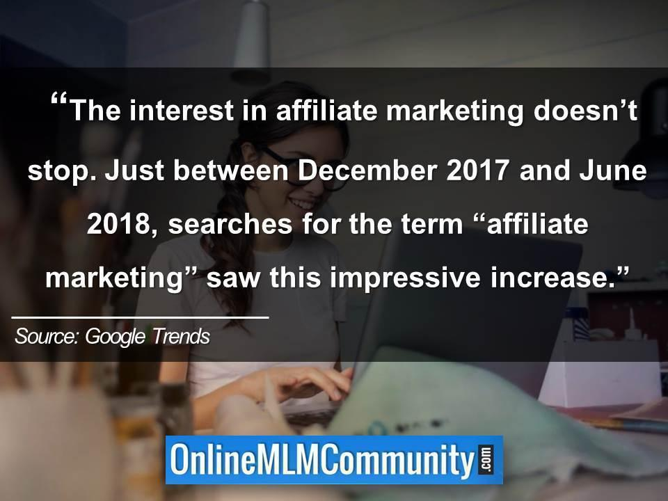 affiliate marketing increase