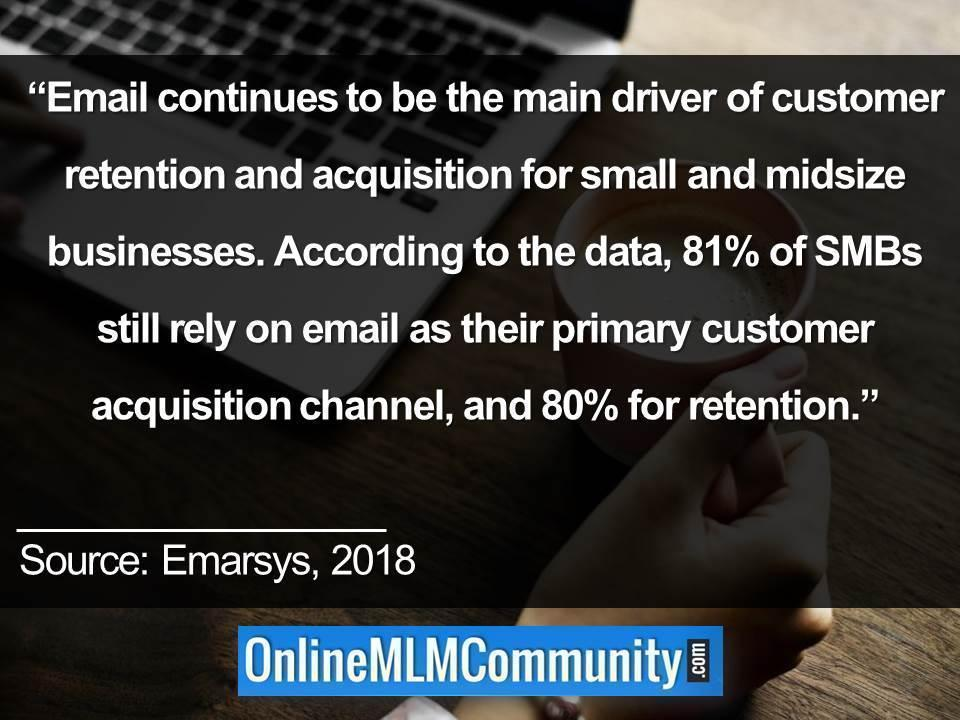 Email continues to be the main driver of customer retention